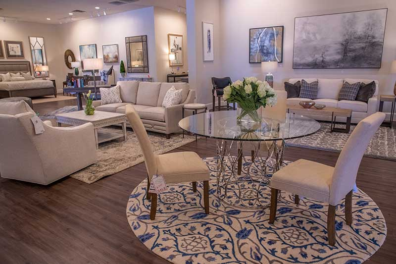 Hooker Furniture Glass Dining Room Table at Tuscany Fine Furnishings in Roswell, GA