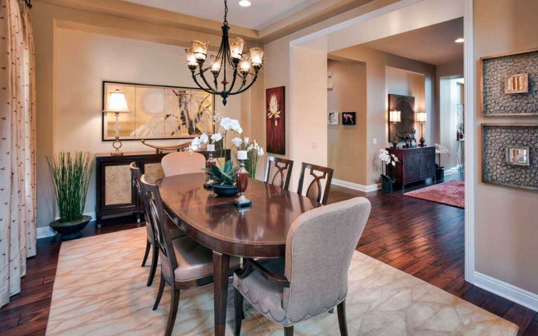 dining room table on area rug