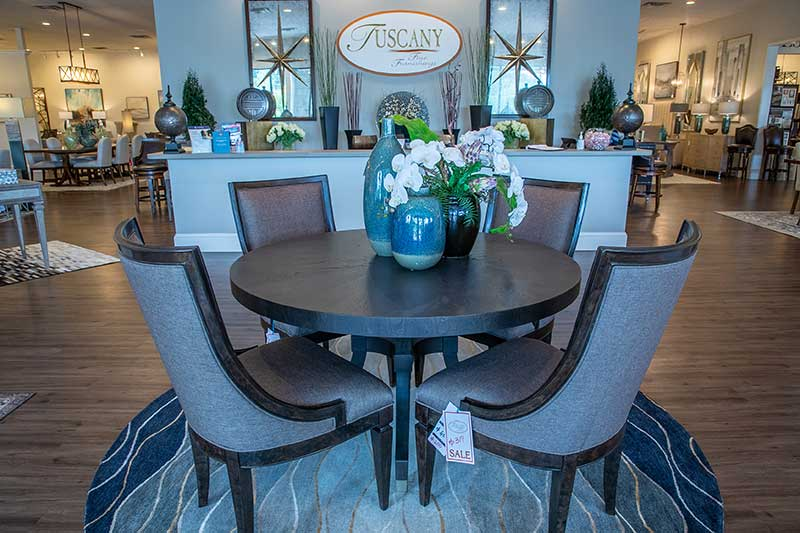Fairfield dining table and chairs at furniture store in Atlanta, GA